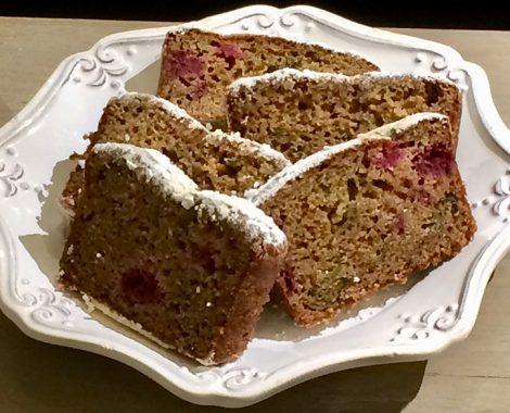 Gluten Free Raspberry Zucchini Loaf